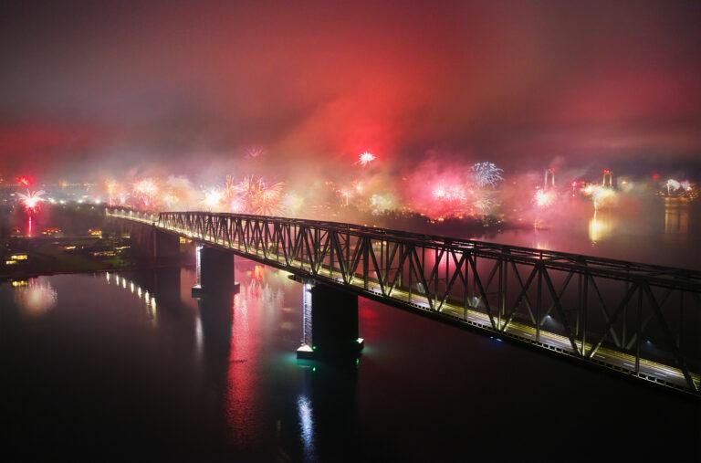 Den Gamle Lillebæltsbro nytårsaften 2020 2021